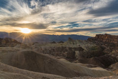 Sunset in Death Valley Royalty Free Stock Photography