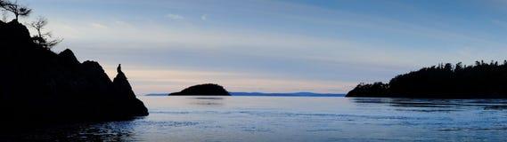 Deception Pass. Sunset at Deception Pass, Whidbey Island WA Royalty Free Stock Image