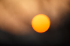 Sunset defocus Royalty Free Stock Photography