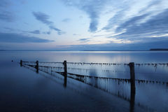 After sunset in Denmark. Blue skye at the beach after sunset in denmark Royalty Free Stock Images