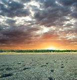 Sunset in a desert Royalty Free Stock Image