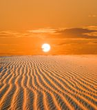 Sunset in a desert Royalty Free Stock Photo