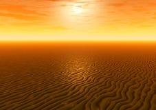 Sunset. Desert Royalty Free Stock Photo