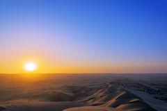 Sunset in a Desert Royalty Free Stock Images