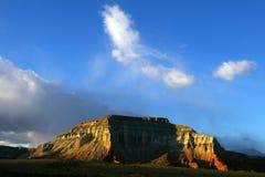 Sunset on Desert Butte Stock Image