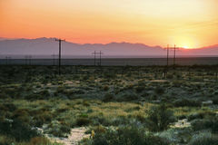 After sunset in the desert Stock Image
