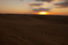 Sunset in Desert Royalty Free Stock Photos