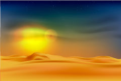 Sunset in the desert Royalty Free Stock Photo