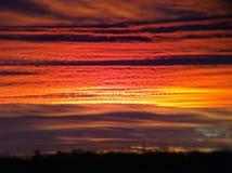 Sunset in desert Stock Image