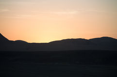 Sunset in the desert of Sinai Royalty Free Stock Photography