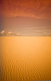 Sunset on desert Royalty Free Stock Photo