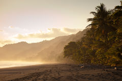 Sunset at deserted beach Stock Photo
