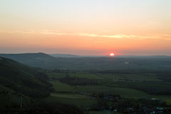 Sunset from Devil's Dyke Stock Image