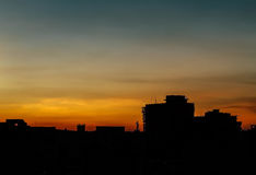 Sunset in Dhaka Bangladesh Royalty Free Stock Images