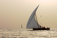 Sunset Dhow Stock Images