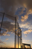 Sunset Diamond. Photograph of a baseball diamond during sunset in Tucson, Arizona Royalty Free Stock Images