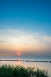 Sunset in Dianchi lake. The beauty of the sunset Royalty Free Stock Photo
