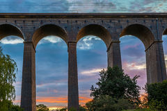 Sunset at Digswell Viaduct in the UK Royalty Free Stock Photos