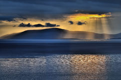 Sunset at Dingle bay. Dramatic sky after a thunderstorm Royalty Free Stock Photography