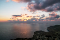 Sunset on dingli cliffs Stock Photos