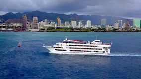 A sunset dinner cruise in Honolulu Stock Photos