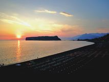 Sunset at Dino Island Royalty Free Stock Photography