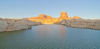 Sunset at The Dirty Devil River at Glen Canyon, UT Royalty Free Stock Photo