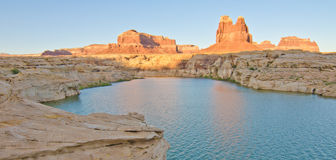 Sunset on The Dirty Devil River at Glen Canyon, UT Stock Photography