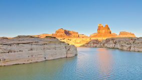 Sunset on The Dirty Devil River at Glen Canyon, UT Stock Photos