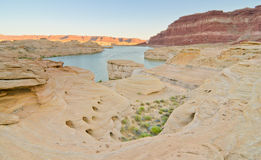 Sunset on The Dirty Devil River at Glen Canyon, UT Royalty Free Stock Photos