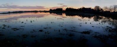 Sunset in Doñana Royalty Free Stock Photography