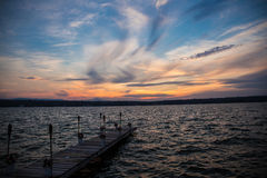 Sunset dock Stock Photo