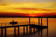Sunset at the Dock Stock Photography