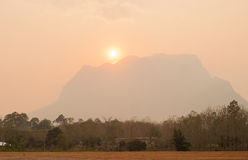 Sunset at Doi Luang Chiang Dao. Stock Images