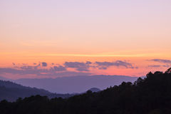 Sunset at Doi Luang Chiang Dow Stock Photo