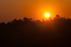 Sunset at Doi Mon Jam Chiang Mai province Thailand. Sunset at Forest Stock Photography