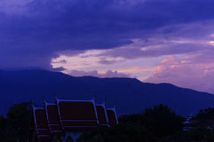 Sunset of doi suthep Royalty Free Stock Photo