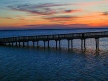 sunset doków Zdjęcia Royalty Free