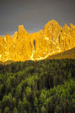 Sunset, Dolomite Mountains, Italy Stock Photo