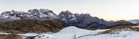 Sunset in the dolomites Stock Images