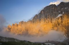Sunset On The Dolomites And Mount Civetta Stock Image
