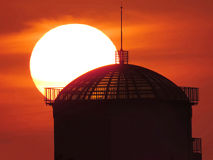 Sunset and dome Stock Photos