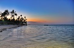 Sunset at Dominican Republic Royalty Free Stock Photo