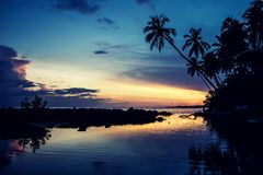 Sunset in the Dominican Republic Stock Image