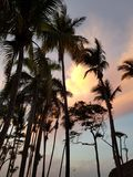 Sunset in Dominican republic Puerto plata stock photos
