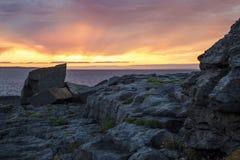 Sunset in Doolin. Coastal village in County Clare, Ireland, on the Atlantic coast Stock Photo