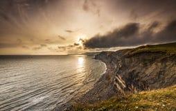 Sunset on the Dorset Coast Royalty Free Stock Images