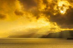 Sunset on the Dorset Coast Royalty Free Stock Photos