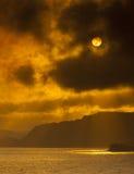 Sunset on the Dorset Coast Royalty Free Stock Photo