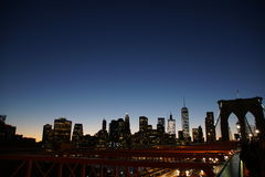 Sunset Downtown New York Royalty Free Stock Photo